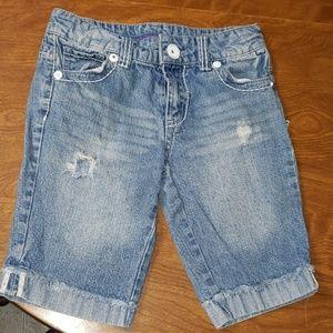 Girls size 10 distressed shorts